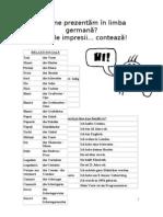 Cum ne prezentăm în limba germană