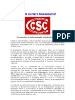 Comunicado Csc Chavez