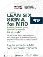 Lean six Sigma  Brochure Print