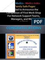 Fahraseh Medicsindex and Jordan Medics First FSP Network Support Workshop 12th of March 2013