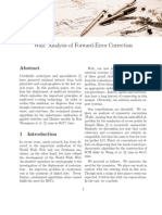 Wall Analysis of Forward-Error Correction