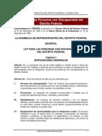Ley Para Las Personas Con Discapacidad Del Distrito Federal[1]