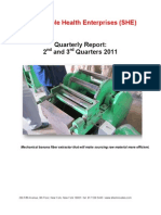 SHE Quarterly Report of Q2 and Q3 2011