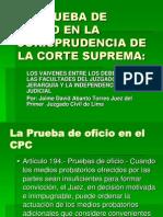 20090926-La Prueba de Oficio en La Jurisprudencia De