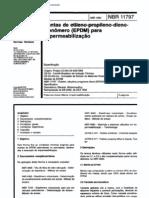 NBR 11797 - 1992 - Mantas de Etileno-propileno-dieno-monomero (EPDM) Para Impermeabilizacao