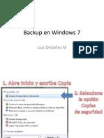 2. Backup en Windows 7