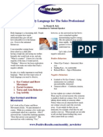 Personal Development eBook - Sale Training, Body Language