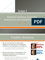 Lecture 3 - Probability Distributions