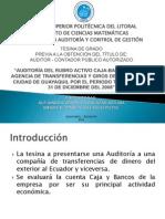 AUDITORÍA FINANCIERA A  LOS RUBROS CAJA Y BANCOS