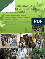 CÓMO EXPLOTAR EL TURISMO COMUNITARIO EN EL ECUADOR TRABAJO COLABORATIVO