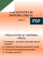 fiscalitatea si sistemul fiscall