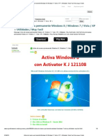 Activa de Manera Permanente Windows 8 _ Windows 7 _ Vista _ XP + Utilidades _ Muy Facil Descargar Gratis