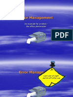Error Management Photocopier