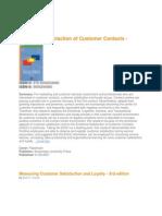 Customer Satisfaction-Book Review