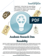 Academic Research DataReusability by Laura German