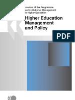 Higher Ed Managemen Vol 19