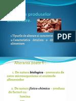 Alterarea produselor alimentare