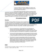 African American Affairs Commission  Legislative Agenda