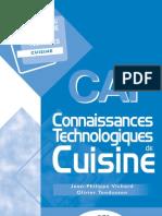 E1741 CAP Connaissances Technologiques de Cuisine