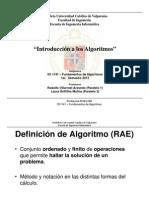 ICI 1141 Algoritmos Intro Semestre I 2013