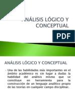 ANÁLISIS LÓGICO Y CONCEPTUAL