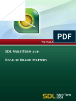 SDL MultiTerm 2011 SP2 Installation Guide