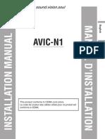 manual instalación avic-n1