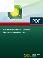 SDL MultiTerm 2011 Extract User Guide