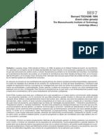 Bernadr Tschumi - Praxis (Resumen)