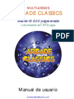 Manual Multijuegos Arcade Classics