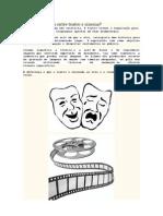 Qual a diferença entre teatro e cinema