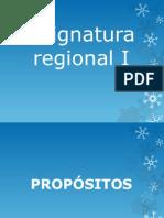 Asignatura Regional i