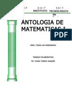 antologia MATEMÁTICAS I 08