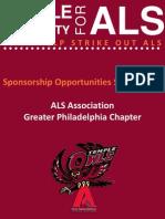 TU4ALS Official Sponsorship Packet