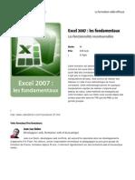 Excel 2007 Les Fondamentaux
