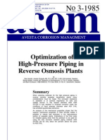 Acom85_3 Optimization of High-Pressure Piping in Reverse Osmosis Plants (254 SMO)