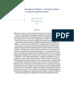 Performance Management Platform a Pivotal Foundation for Breakthrough Performance