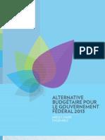 Alternative budgétaire pour le gouvernement fédéral 2013