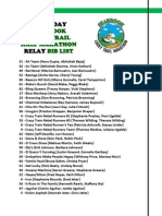 2013 Seabrook Lucky Trail Half Marathon Relay - Saturday Bib List