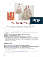 Free U-Handbag Bag Pattern. 'for Pleat's Sake Tote'PDF