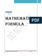 Mathematics Formula