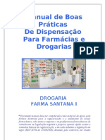 Manual de Boas Praticas de Dispensacao Para Drogaria
