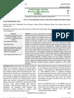 Assessment of Cytotoxic Activity of Two Medicinal Plants Using Brine Shrimp (Artemia Salina) as an Experimental Tool