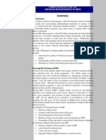 Housing Microfinance Summary