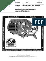 A Landfill Gas-To-Energy Project Development Handbook