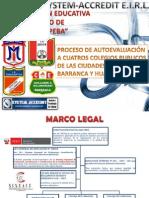 Proceso de Autoevaluacion a 4 Colegios Publicos de Lima Provincias