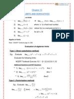 CBSE Class11 Maths Notes 13 Limits and Derivatives