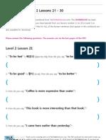 TTMIK Workbook Level 2 Lesson 21~ 30