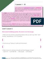 TTMIK Workbook Level 1 Lesson 1~ 10
