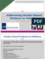 Addressing Gender-Based Violence in Pakistan